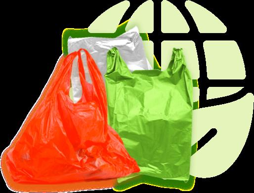 Plastiktütenverbrauch auf der Erde ist ein Problem!