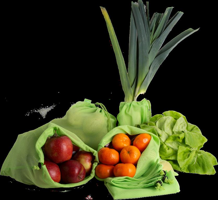 Das erntefrisch Netz im Einsatz mit Obst und Gemüse